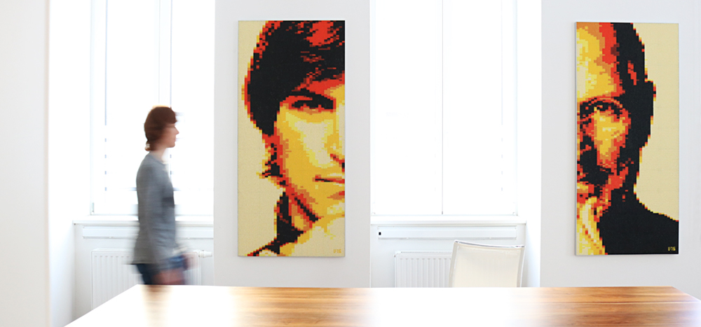 VERI – Analog Pixel Art » Steve Jobs